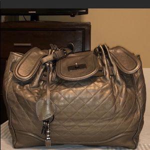 Moschino Key Padlock Leather Handbag